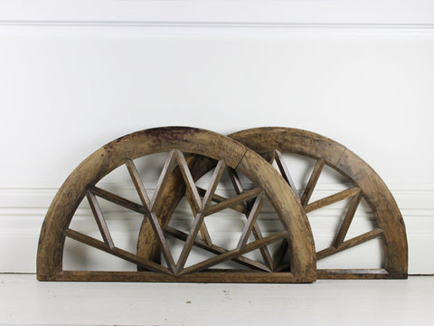 Large Oak Elliptical French Window Arch
