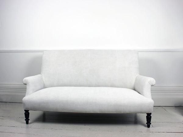 A French Scroll Backed Napoleon III Sofa