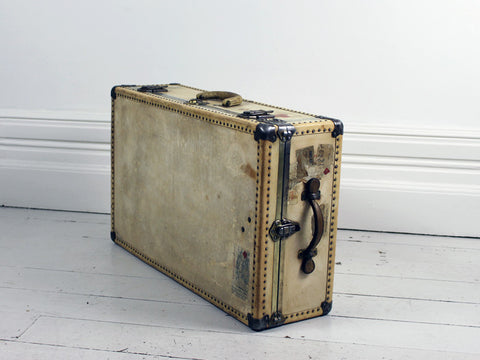 A Large Vellum Trunk with Studwork