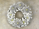 A Cream Ceramic Floral Wreath