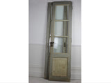 Pair of Grey French Doors with Glass Panels