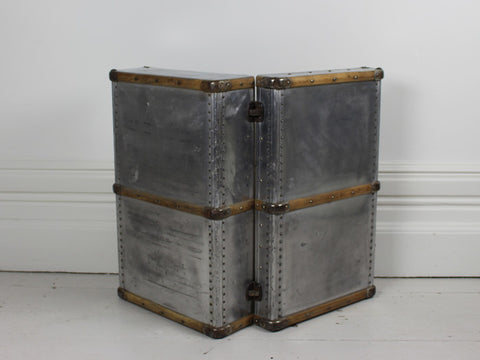 An Aluminium and Wood 1950's Suitcase