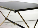 Black Glass & Brass Maison de Jensen Coffee Table