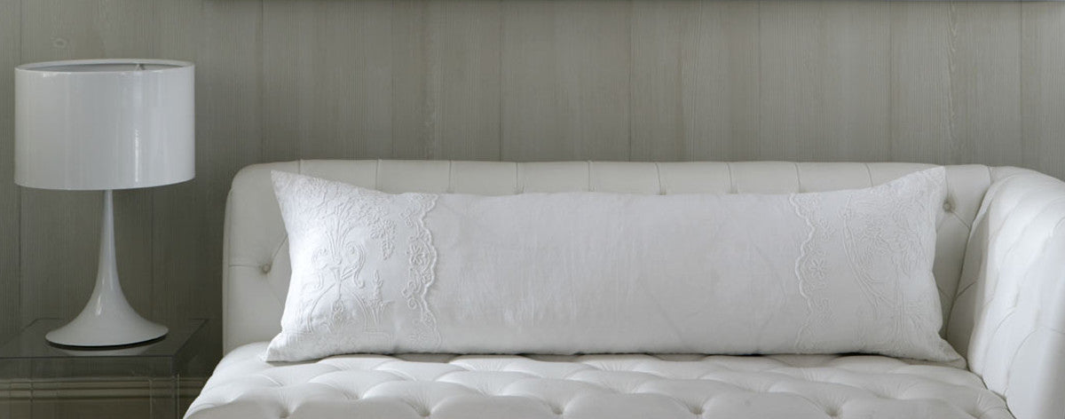 Antique Linen Bolster by Charlotte Casadejus