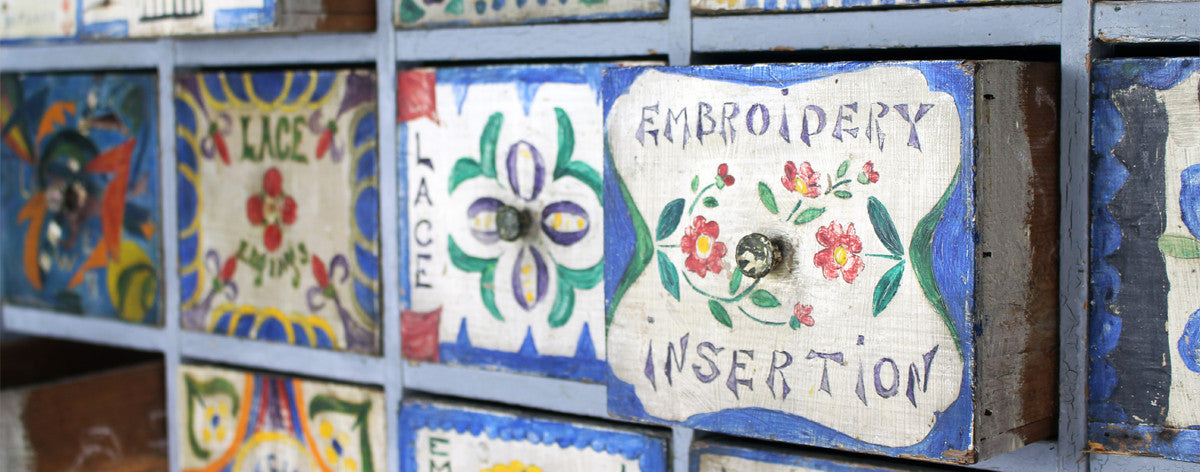 painted haberdashery cupboard