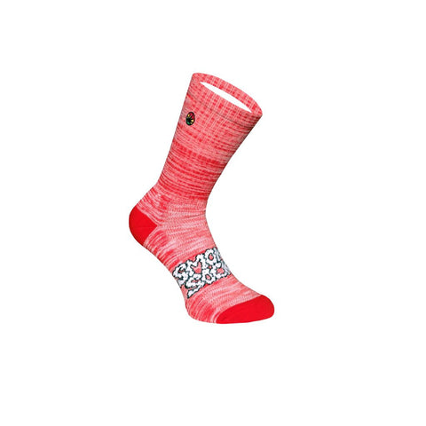 Classic OG Heathers Red White by Smokey Socks