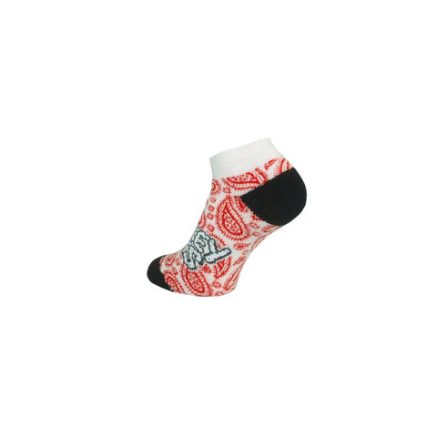 Nugget Paisley Red by Smokey Socks