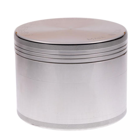 Large Polished Aluminum 4 Piece Space Case Grinder