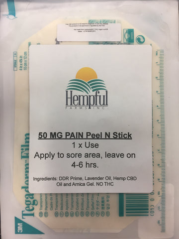 Pain Peel and Stick by Hempful Farms
