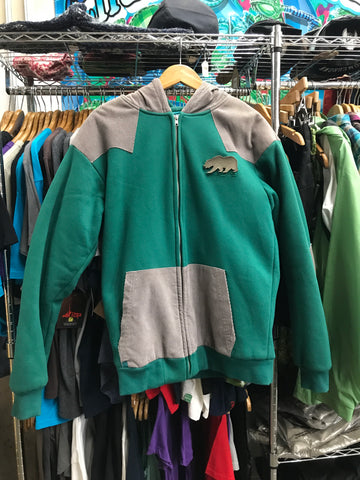 Bear Teal Corduroy Topped Hoodie by Grassroots