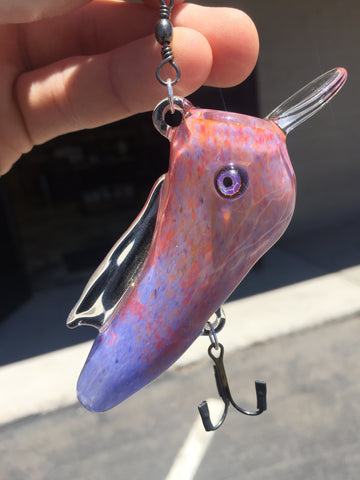 Purple-Red Fade Fishing Lure by MW Studios