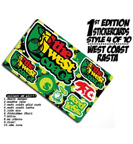 West Coast Rasta Stixcard by Seedless