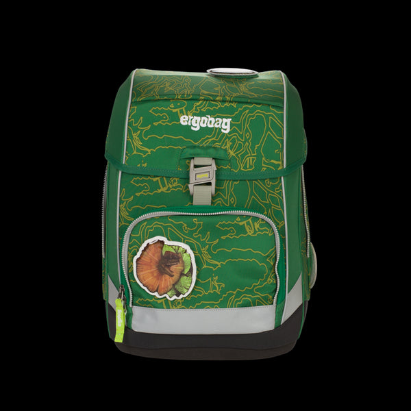 ergobag Cubo SINGLE School Bag Green Jungle - ergokid Singapore
