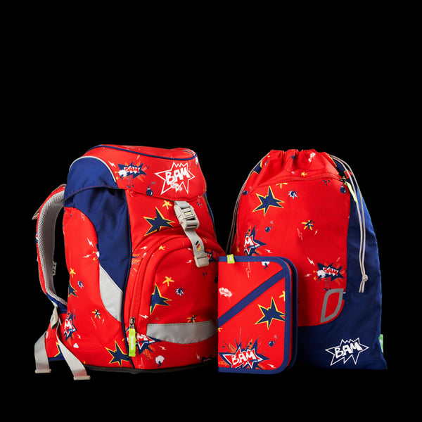 BAM 3pcs Set Red - ergokid Singapore