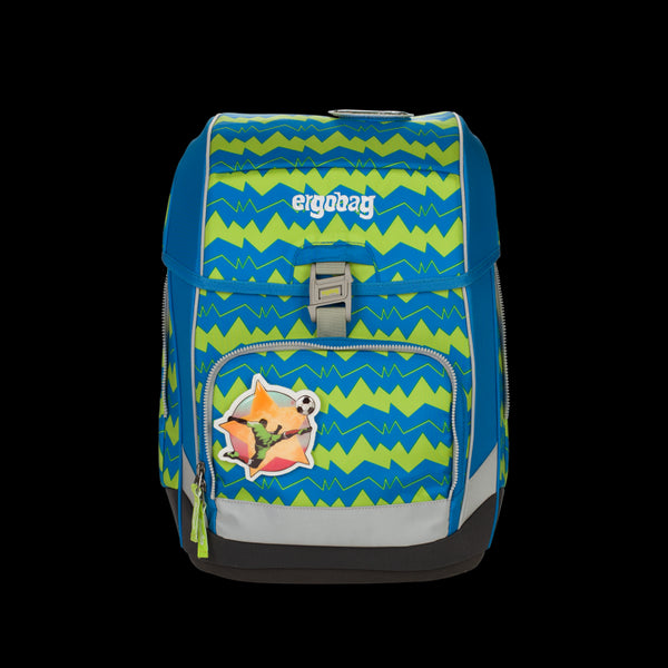 ergobag Cubo SINGLE School Bag SET Green Zigzag - ergokid Singapore