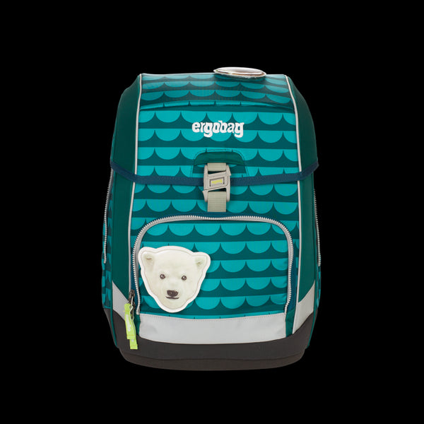 ergobag Cubo School Bag SINGLE Green Waves - ergokid Singapore