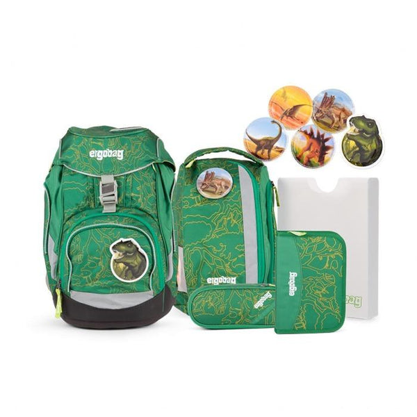 ergobag Pack School Bag 6-piece Set DinosaurBear - ergokid Singapore