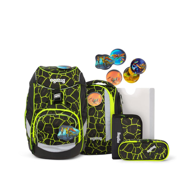 ergobag Pack School Bag 6-piece Set Dragon RideBear - ergokid Singapore