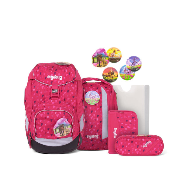 ergobag Pack School Bag 6-piece Set HorseShoeBear - ergokid Singapore