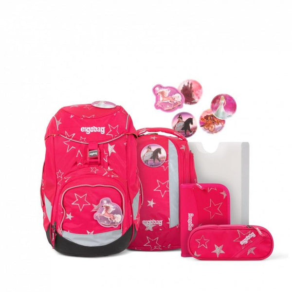 ergobag Pack School Bag 6-piece Set Pink Stars CinBearella - ergokid Singapore