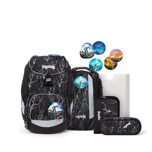 ergobag Pack School Bag 6-piece Set SuperReflektBear Glow Edition - ergokid Singapore
