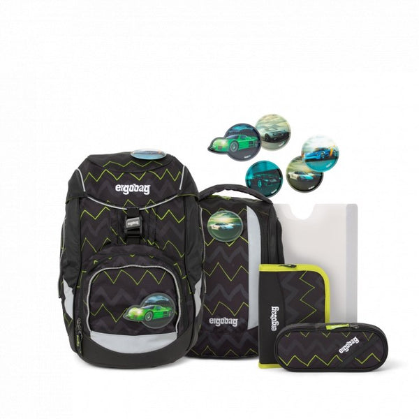 ergobag Pack School Bag 6-piece Set Zigzag Black HorsepowBear - ergokid Singapore