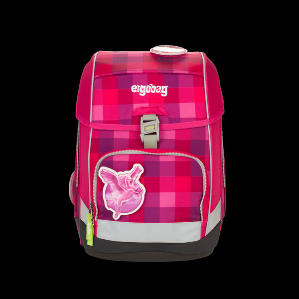 ergobag Cubo School Bag SINGLE Check Purple - ergokid Singapore