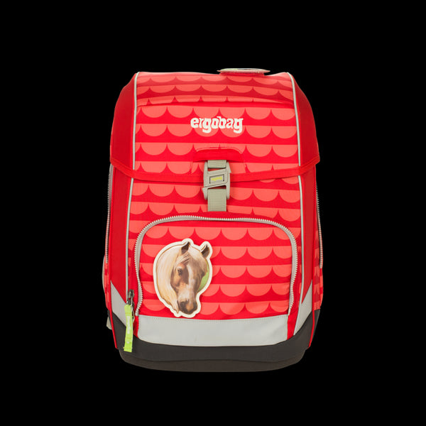 ergobag Cubo SINGLE School Bag Red Waves - ergokid Singapore