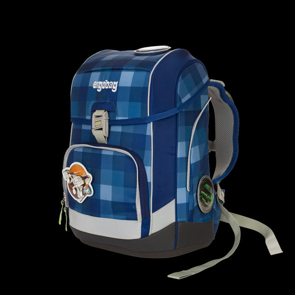 ergobag Cubo SINGLE School Bag Check Blue - ergokid Singapore