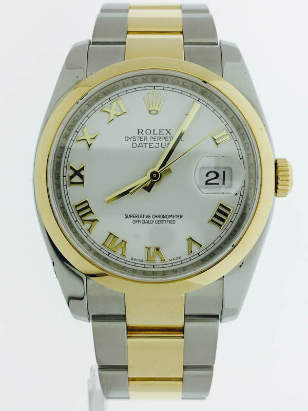 GENTS TWO-TONE DATEJUST ROLEX WATCH