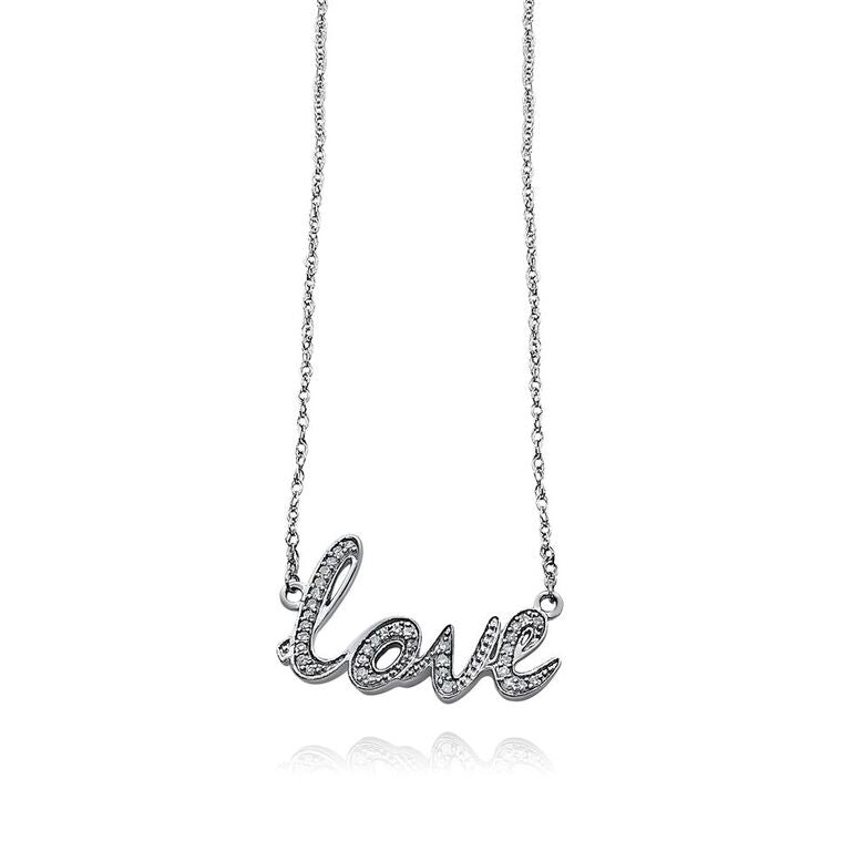 "STERLING SILVER ""LOVE"" NEKCLACE 