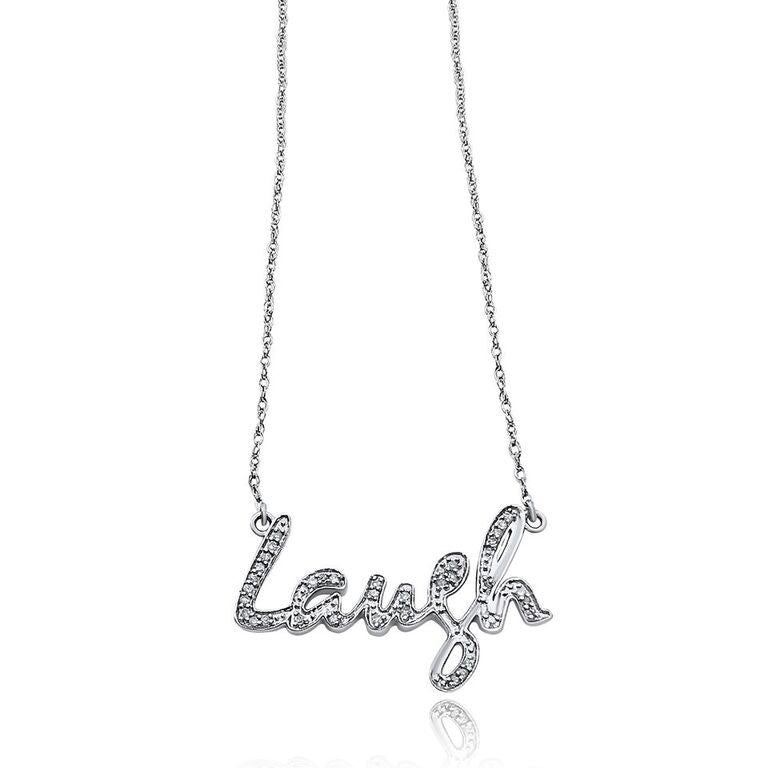 "STERLING SILVER ""LAUGH"" NECKLACE"