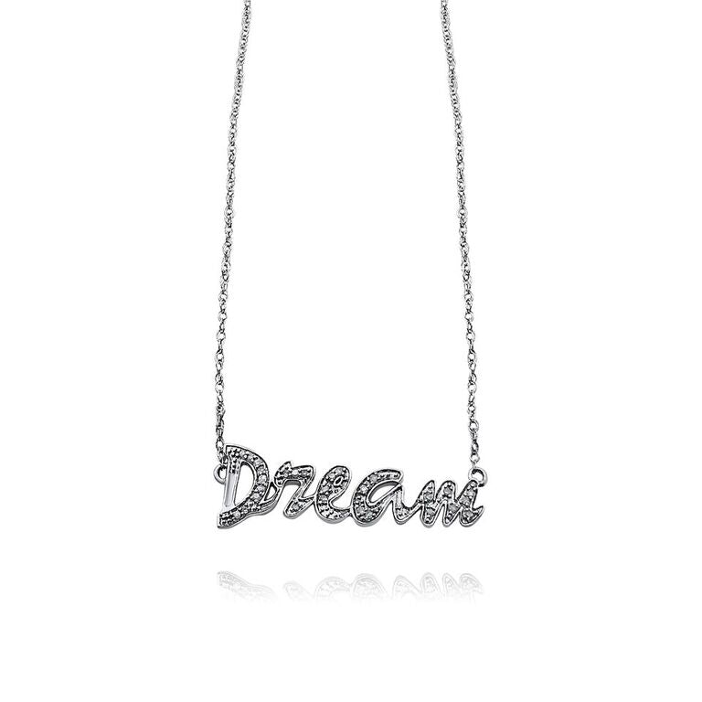 "STERLING SILVER ""DREAM"" NECKLACE"