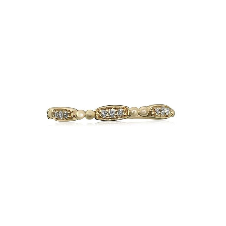 14K ROSE GOLD STACKABLE RING .09CT DIAMONDS