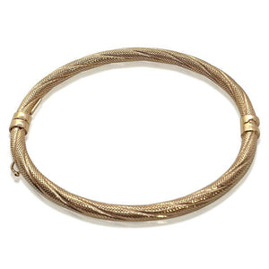 14K ROSE GOLD TEXTURED BANGLE BRACELET