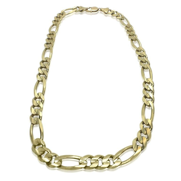 14K YELLOW GOLD FIGARO CHAIN
