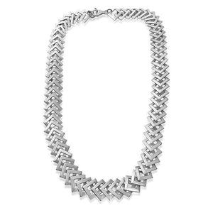 KELIM STERLING SILVER DIAMOND LINK NECKLACE