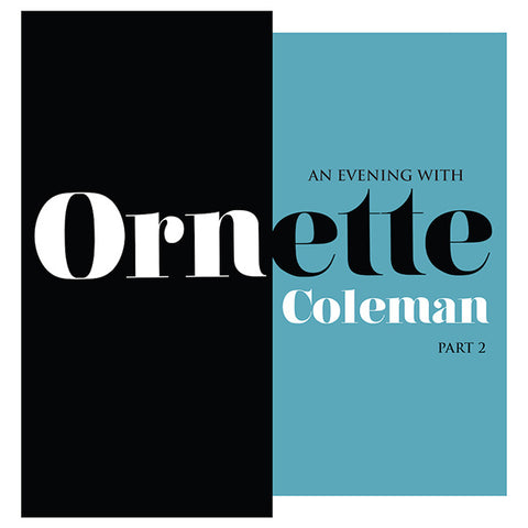 An Evening with Ornette Coleman Part 2 | Org Music | Vinyl | Record Store Day RSD 2018