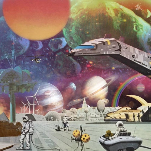 Various Artists ‎– Moon Rocks : Extraplanetary Funk, Space Disco & Galactic Boogie