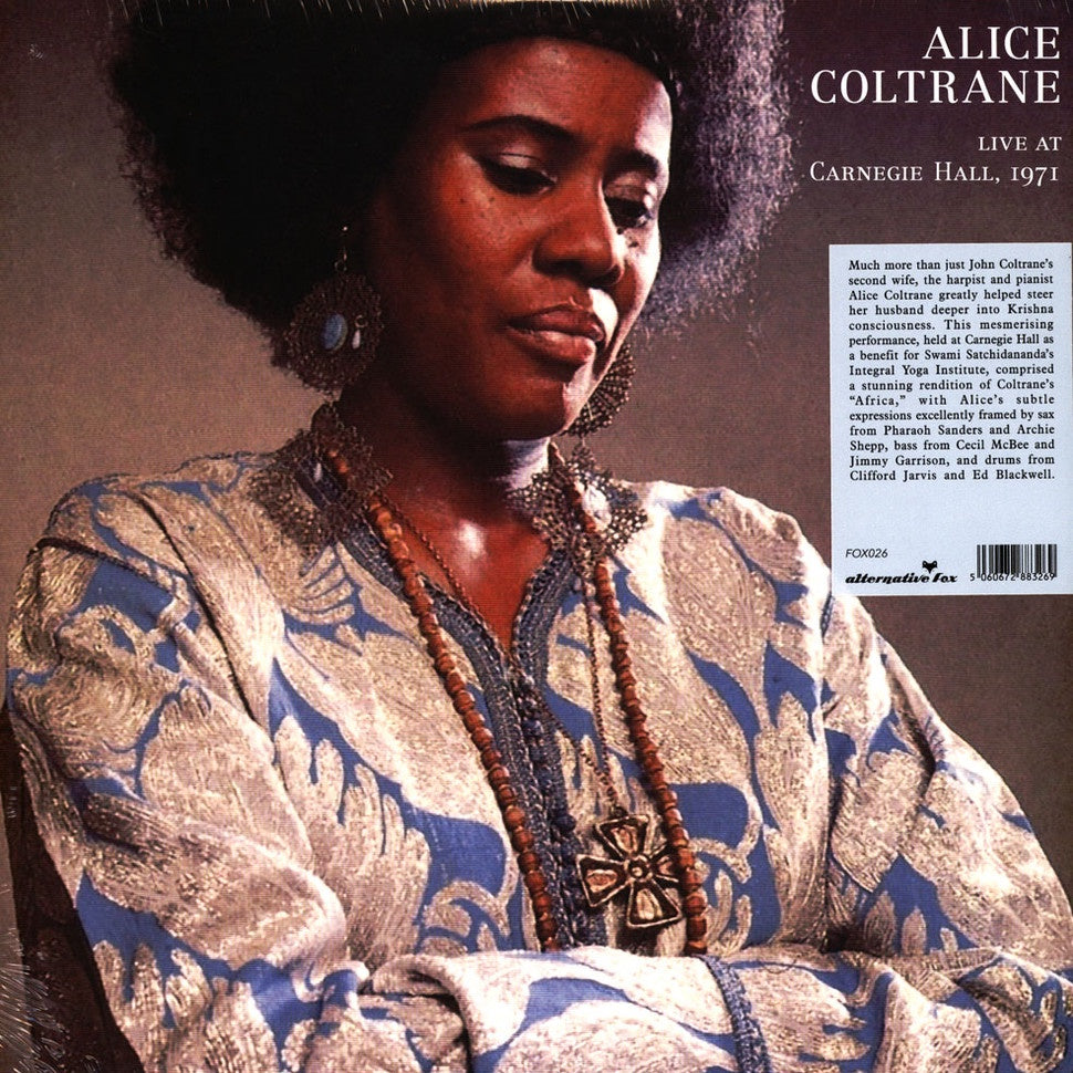 Alice Coltrane ‎– Live at Carnegie Hall, 1971 | Unofficial