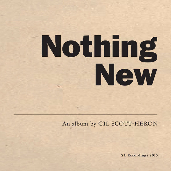 Gil Scott-Heron – Nothing New