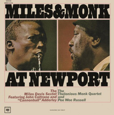 Miles Davis Sextet & The Thelonious Monk Quartet ‎– Miles & Monk At Newport | Mono