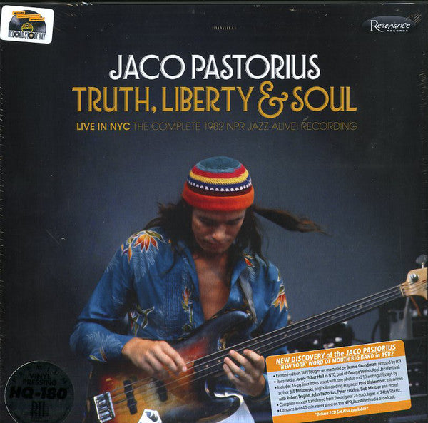 Jaco Pastorius ‎– Truth, Liberty & Soul | 3LP Limited Edition Boxset | RSD