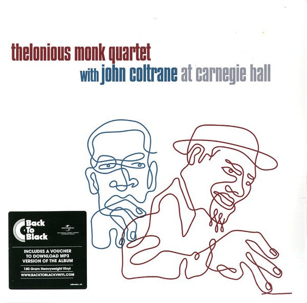 Thelonious Monk Quartet With John Coltrane ‎– At Carnegie Hall