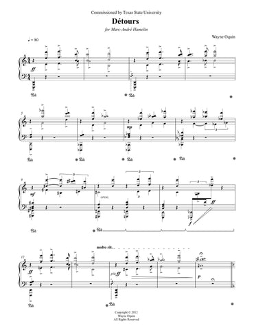 Detours for solo piano