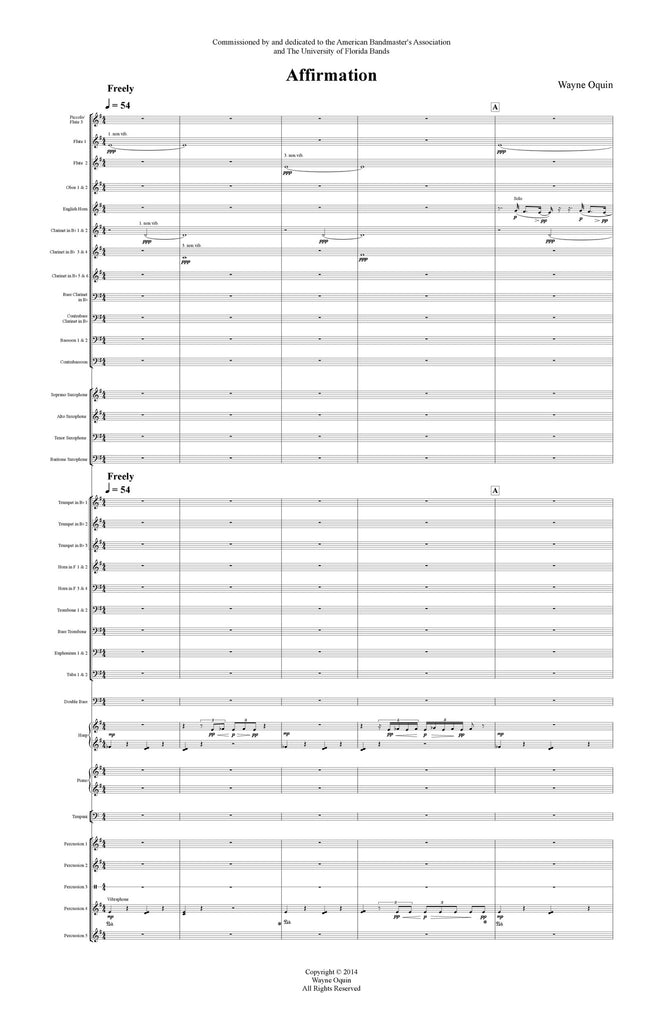 Affirmation Conductor's Score