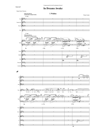 In Dreams Awake Conductor's Score