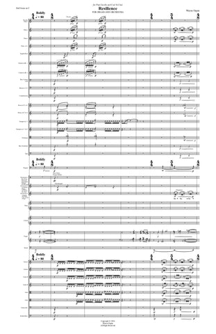 Resilience for organ and orchestra (Score Only)
