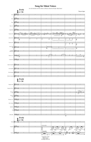 Song for Silent Voices (conductor's score only)