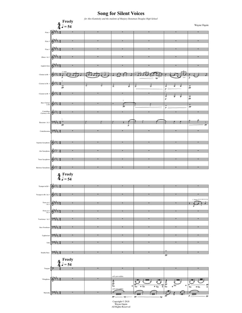 Song for Silent Voices (Score & Parts)
